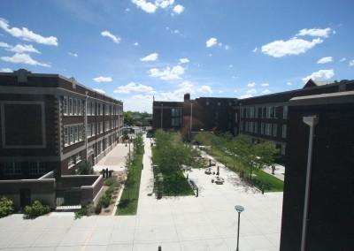 Gym Courtyard View