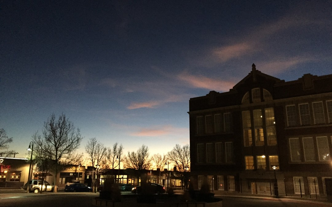 Sunset at The Lofts